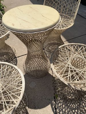 Mid-Century Modern Russell Woodward Spun Fiberglass Patio Set for Sale in Appleton, WI