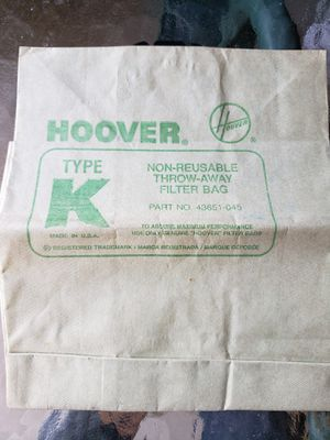Hoover Type K Vacuum bag for Sale in Oakland, CA