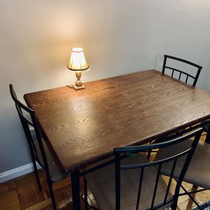 Wooden & Metal Table With 4 Chairs for Sale in Washington, DC