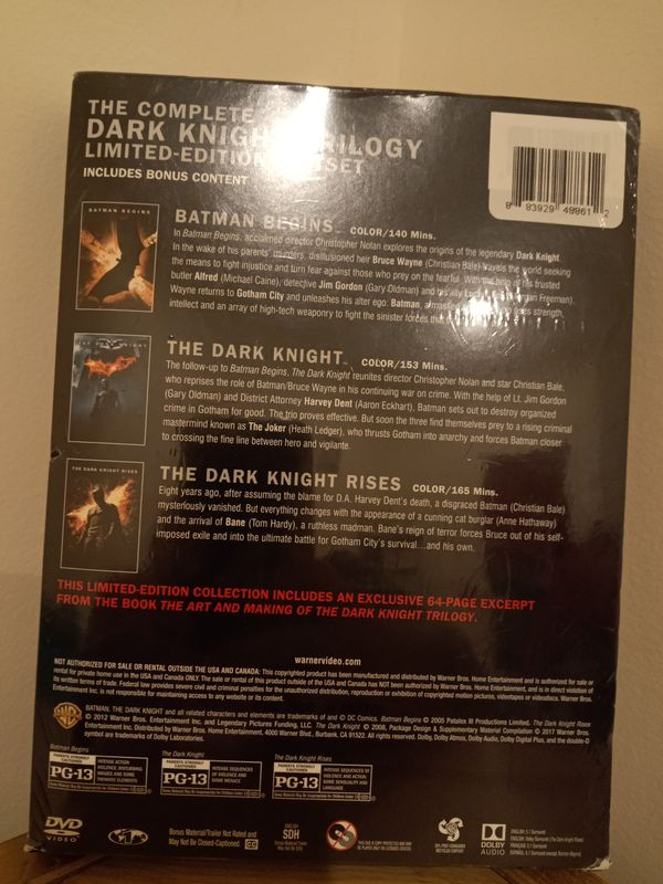 The Dark Knight Trilogy DVD set