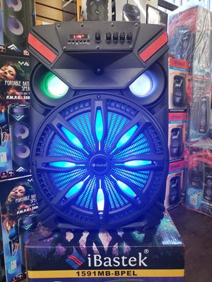 """Bluetooth Karaoke Speaker 15"""" Woofer LED Lights / Wireless 🎤 / USB / MICRO SD CARD / FM RADIO 📻 . 📦 Rechargeable 🔋 +++ for Sale in Los Angeles, CA"""