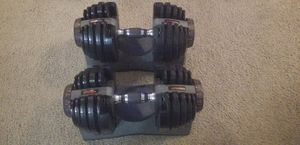 Bowflex adjustable dumbbells 5lbs-52.5lbs EXCELLENT condition for Sale in Alameda, CA