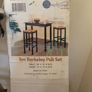 3pc Berkeley Pub Set for Sale in Rockville, MD