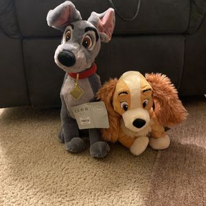 Lady And Tramp Plushy Set for Sale in Lynnwood, WA