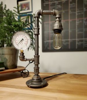 Industrial Steampunk Desk Table Lamp for Sale in Grove City, OH