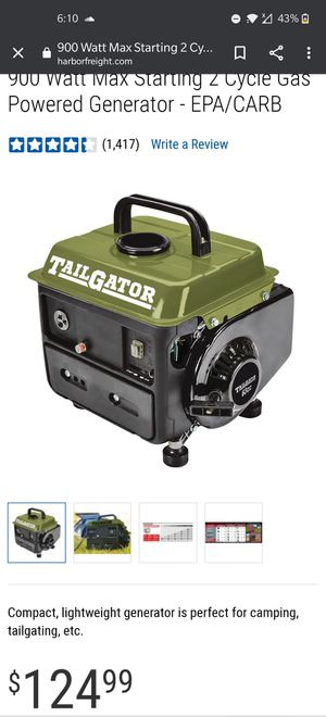 Generator for Sale in Byron, CA