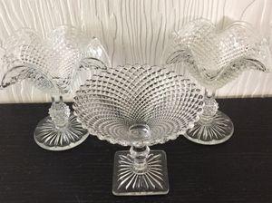 Vintage Hobnail Clear Glass Pedestal Dishes for Sale in Orange, CA