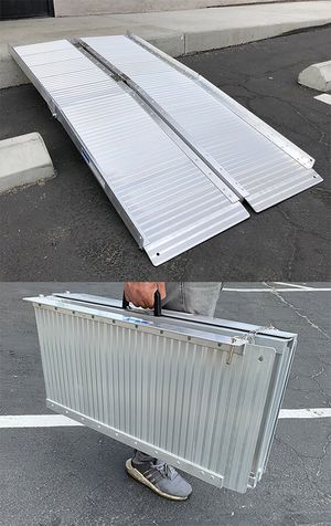 """New in box $115 Aluminum 5' ft Portable Multifold Wheelchair Scooter Mobility Ramp (60""""x28"""") for Sale in Whittier, CA"""