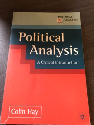 Political Analysis: A Critical Introduction for Sale in Washington, DC