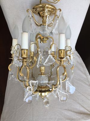 Chrystal and brass chandelier (3). for Sale in Los Angeles, CA