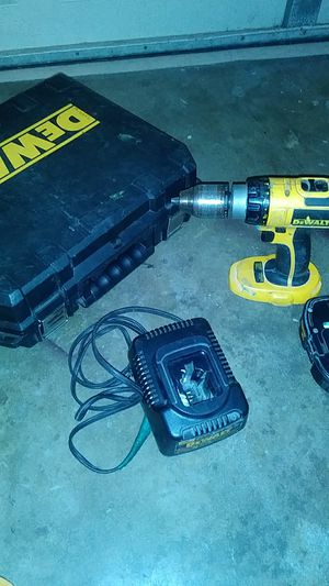 Hammer drill battery..charger and case including for Sale in Spring Hill, FL