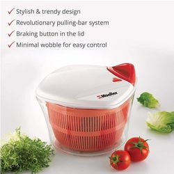 Large 5L Salad Spinner Vegetable Washer with Bowl, Anti-Wobble Tech, Lockable Colander Basket and Smart Lock Lid - Lettuce Washer and Dryer - Easy Wat for Sale in Phoenix,  AZ