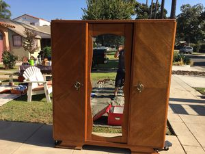 Very large MCM antique armoire dresser for Sale in Fullerton, CA