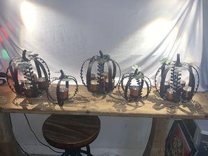 Metal pumpkin candle holders for Sale in Nashville, TN