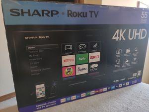 Sharp 55 inch 4k Roku Smart TV for Sale in Wichita, KS
