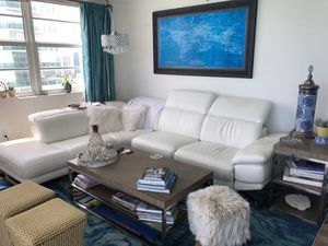 White leather couch for Sale in Miami Beach, FL
