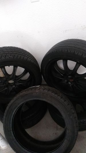 17in 4x100 4 lugs rims and extra brand new tire for Sale in Las Vegas, NV