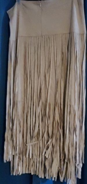 Suede fringe skirt for Sale in Miami Gardens, FL