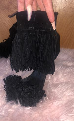 Black fringe Jeffery Campbell heels size 7 for Sale in St. Louis, MO