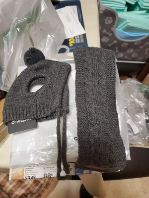 Dog scarf and hat for Sale in Gahanna, OH
