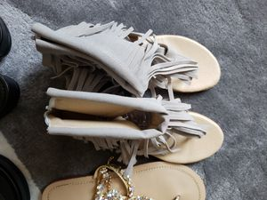 Women's fringe flat sandals for Sale in Grapevine, TX