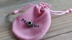 Genuine Pandora Sterling Silver Black Pave Ball Charm. for Sale in Mount Prospect, IL