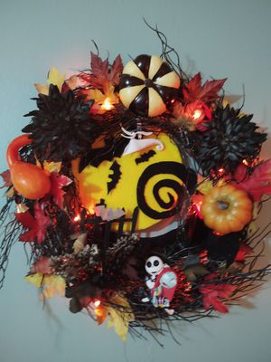 Nightmare before christmas wreath for Sale in Youngsville, NC