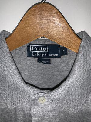 Men's Ralph Lauren Polo shirt. Size: M, Color: Grey , Design: Long Sleeve for Sale in Washington, DC