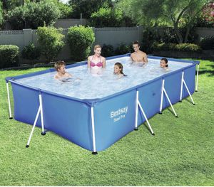 """Bestway Steel Pro 13' x 7' x 32"""" Rectangular Above Ground Swimming Pool (no pump) for Sale in Fresno, CA"""