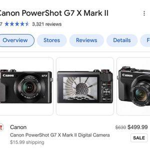 Canon PowerShot G7 X Mark II for Sale in Fairfield, CA