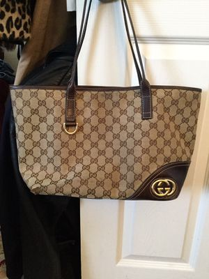GUCCI MONOGRAM CANVAS SATCHEL TOTE PURSE for Sale in Bayport, NY