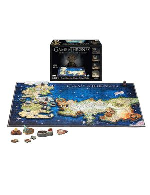 Game of Thrones 4D Puzzle of Westeros & Essos, Size: 891-Pieces, Multicolor for Sale in Fresno, CA