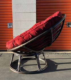 Living Room Rattan Wicker Bamboo Papasan Round Chair for Sale in Whittier,  CA