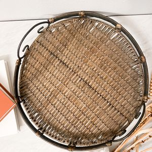 """15"""" Wicker round tray for Sale in Los Angeles, CA"""