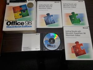MS Office 98 Mac Edition pack for Sale in Los Angeles, CA