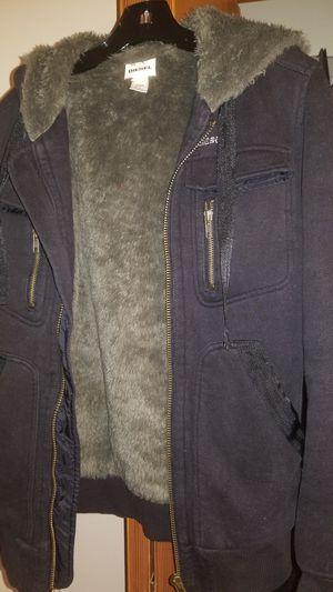 DIESEL hoodie jacket faux fur lined men's size S for Sale in Homer Glen, IL
