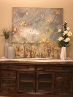 Large blue, gold and brown canvas art for Sale in Phoenix, AZ