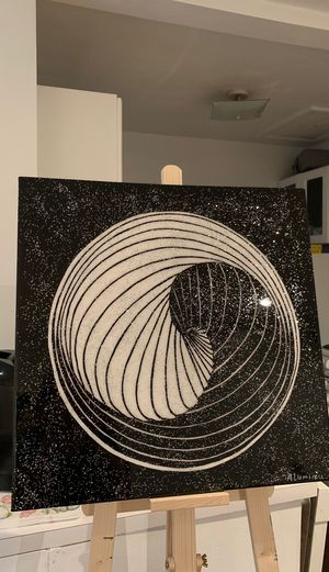 3 D Ying Yang hand painting by ALuminere for Sale in Miami Beach, FL