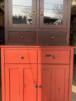 Solid Wood Small Bar/Hutch / Kitchen Storage for Sale in Everett,  WA