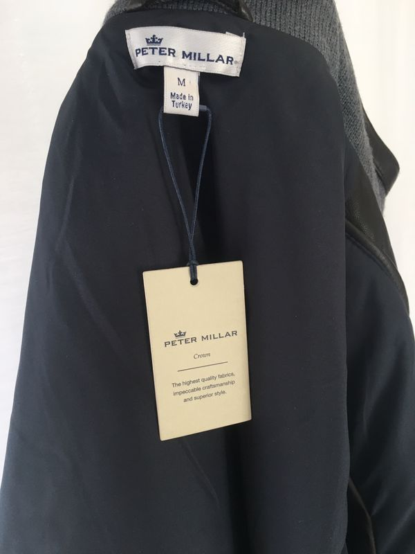 Peter Millar leather jacket