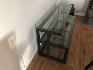 """Pilsen 52"""" Graphite Media Console with Glass Shelves for Sale in Dublin, CA"""