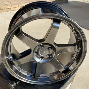 VORDOVEN FORME 10 - 18X9.5 +38 - 5X100 - 73.1 - HYPER BLACK ( FRS / BRZ / 86 Wheels ) for Sale in Moreno Valley, CA