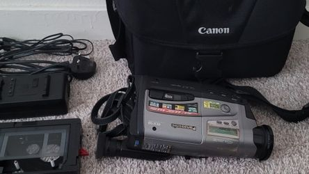 An Old Panasonic Video Camera With All The Accessories Along With Cassette Holder... A Fuji Film Digital Camera And With The Camera Bag for Sale in Littleton,  CO