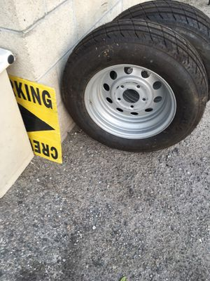 Trailer tires and rims Gladiator 205/75R15 5 lug for Sale in Los Angeles, CA
