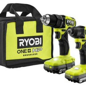 NEW Ryobi PSBCK01K, ONE+ HP 18V Brushless Cordless Compact 1/2 in. Drill and Impact Driver Kit for Sale in Phoenix, AZ