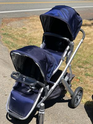 2015 Uppababy Vista Double Stroller w Bassinet Taylor Blue for Sale in Seattle, WA