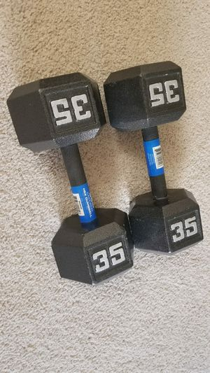 35 lbs weights dumbbells for Sale in Arlington, VA