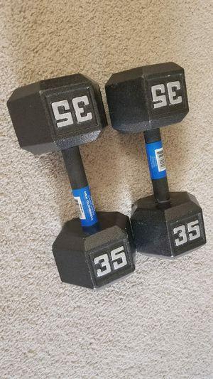 35 lbs weights dumbbells for Sale in Arlington, VA