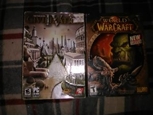 World of Warcraft and Civilization IV PC GAMES for Sale in Philadelphia, PA