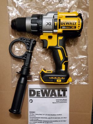 "DEWALT 20V MAX LITHIUM ION XR BRUSHLESS 3-SPEED 1/2"" HAMMER DRILL/DRIVER for Sale in Los Angeles, CA"